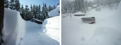 越後の軽井沢 冬は雪が多く 建築物の管理が大変です。